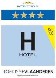 Hostellerie Kemmelberg kreeg als hotel vier sterren toegewezen van het Departement Vlaanderen Internationaal.